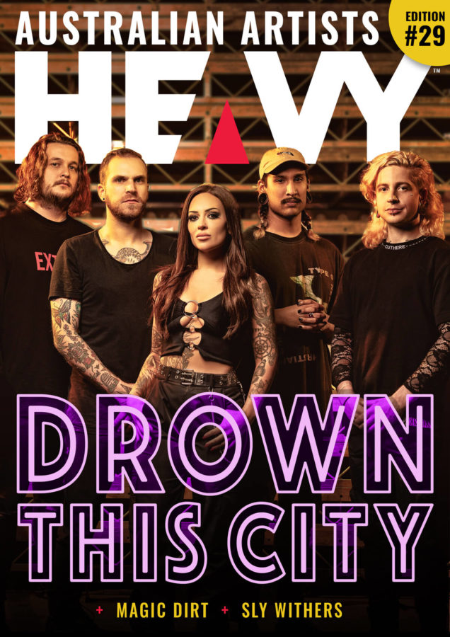 Australian HEAVY Magazine Cover with Drown This City