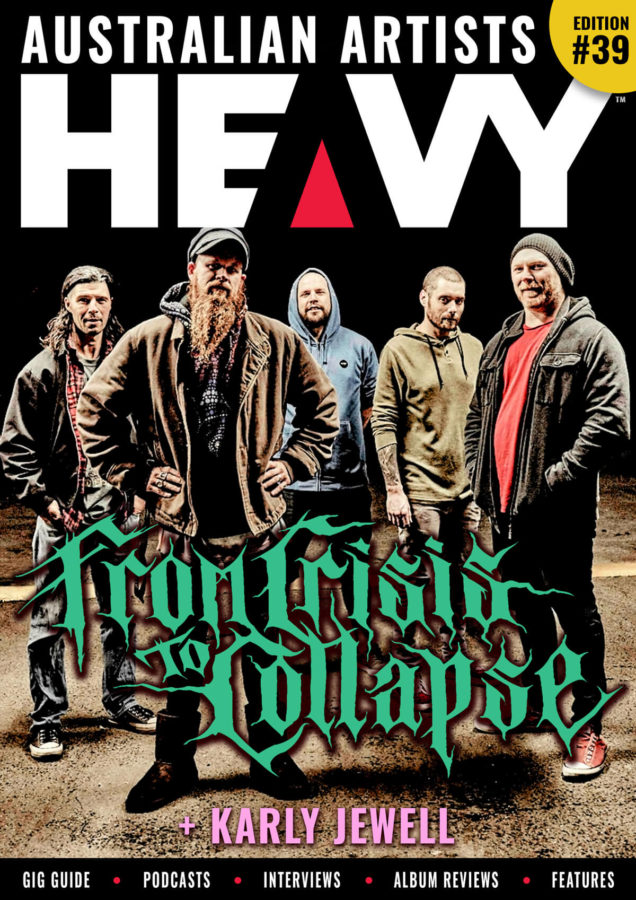HEAVY Magazine Cover with From Crisis to Collapse